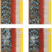 Serie 2: Situazione post evento HQ20 (sopra) e HQ100 (sotto) per la geometria di riferimento (sinistra) e per quella con le ceppaie (destra)
